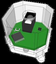 Cube-Dの光・温度センサブロック