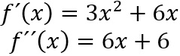 Erste und Zweite Ableitung der Funktion bestimmen
