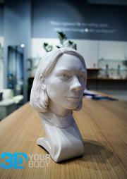 3D-Büste aus Gips/ Kunststoff
