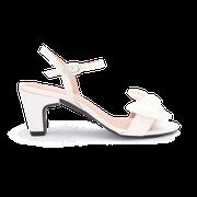 flexible Perfect Match Bridal Schuhe in Weiß und 7 cm Block Absatz