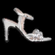 flexible Perfect Match Bridal Schuhe in Silber und 10 cm Stiletto Absatz