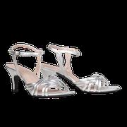 flexible Perfect Match Bridal Schuhe in Silber und 7 cm Stiletto Absatz