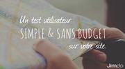 Un test utilisateur simple & sans budget