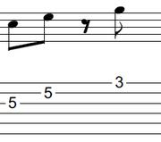 ギターアドリブ入門講座(初心者) 2拍パターン7-2