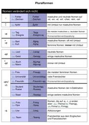 DaF, DaZ, Plural, Pluralformen