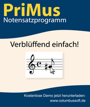 PriMus Notation Program www.columbussoft.de/
