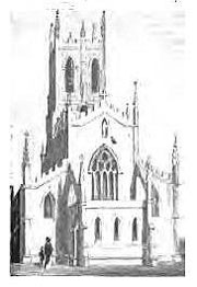 St George's Church (demolished) from Beilby, Knott & Beilby 1830 An Historical and Descriptive Sketch of Birmingham, a work now in the public domain.