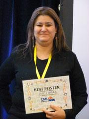 lmc france Mina daban 1er prix meilleur poster affiche cml leucémie myéloïde chronique best poster 2013 cml horizons