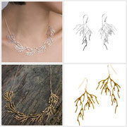 filament Collier & branch Ohrringe