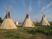 unser Camp in Oglala
