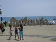der Strand in Malaga