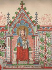 Illustration tirée d'une prière du XIXe siècle - ND de la Fontaine