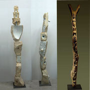 Due totem + Totem africano