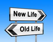 Sich neuorientieren und sich für ein neues Leben entscheiden