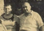 Corviño e a súa dona. Arxentina anos 60. Foto cedida por G. Loureiro