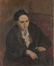 パブロ・ピカソ「ガートルード・シュタインのポートレイト」(1906年)