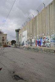 Sperranlage in Bethlehem