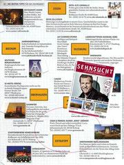 """Die Zetschrift """"Sehnsucht Deutschland"""" sieht uns erneut in ihrer Ausgabe 02/2012 als Tip im Ruhrgebiet!"""