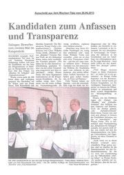 Bürgermeisterkandidat Rauschkolb in der Diskussion