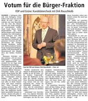 Bürgermeisterkandidat Rauschkolb stellt sich bei den Grünen und der FDP vor