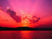 Geniessen Sie den Sonnenuntergang vom Balkon