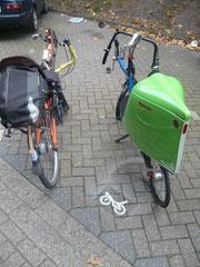 Kaum eingerichtet ist der Oldenburger Liegeradparkplatz auch gleich gut angenommen!