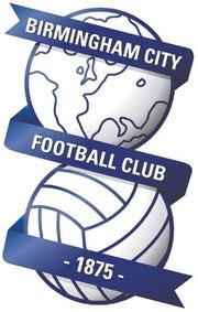 Das Wappen des Fußballvereins Birmingham City