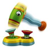 Ein Spielzeug-Hammer