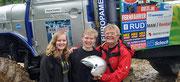 """""""Team Young and Funky"""" vlnr. Leonie, Felix und Jürgen Funke. www.europatrucktrial.at"""