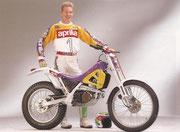 Trial Weltmeister 1992: Tommi Ahvala, Aprilia Climber. Image: www.retrotrial.com