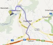 Nikolotrial: Anfahrtsplan zum neuen Gelände. www.tt-berndorf.at
