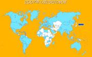図3:日本より早くヒブワクチンを打っていた国々(水色)
