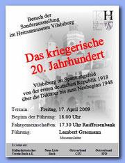 Plakat zum Ausstellungsbesuch