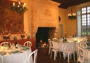 Après votre visite, déjeuner dans la salle des Princesses du Château de Condé [cliché Château de Condé - AyPR - Condé en Brie - Sud Aisne 02]