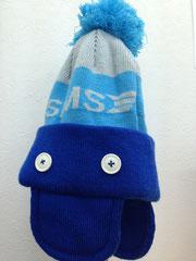 オーロラ防寒用の帽子