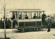 Erste elektrische Straßenbahn in Lichterfelde, 1881 (Bild Wikipedia)
