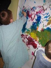 Peinture à la crèche