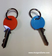 llaves codificadas por colores con anilla  -www.AorganiZarte.com
