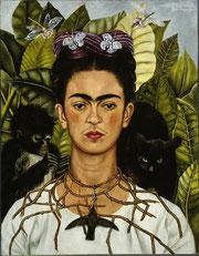 Frida Kahlo, Autoritratto con collana di spine