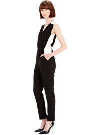 Warehouse colour block jumpsuit