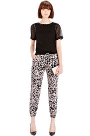 Warehouse animal print formal jogger