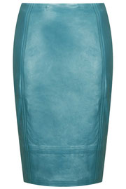 Topshop leather pencil skirt