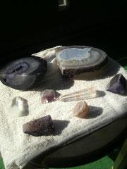 石も日光浴~♪