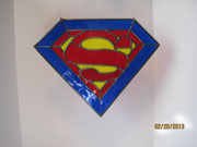 Accent Pieces like this custom Superman window glass sun catcher
