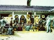 150年程昔の横浜のお茶商の風景
