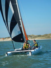 Dart 16 , catamaran voile baie somme fort mahon plage