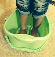 子どもの足です(´∀`)