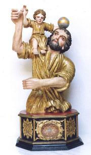 Buste reliquaire en bois doré (XVIIIe)