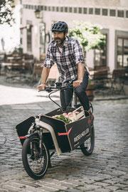 In Cloppenburg können Sie sich verschiedene Extras zu Ihrem Lasten e-Bike ansehen.