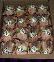 16 pigeons prêts à cuire étiquetés et emballés